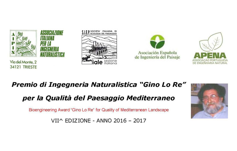 """Premio di Ingegneria Naturalistica """"Gino Lo Re"""""""